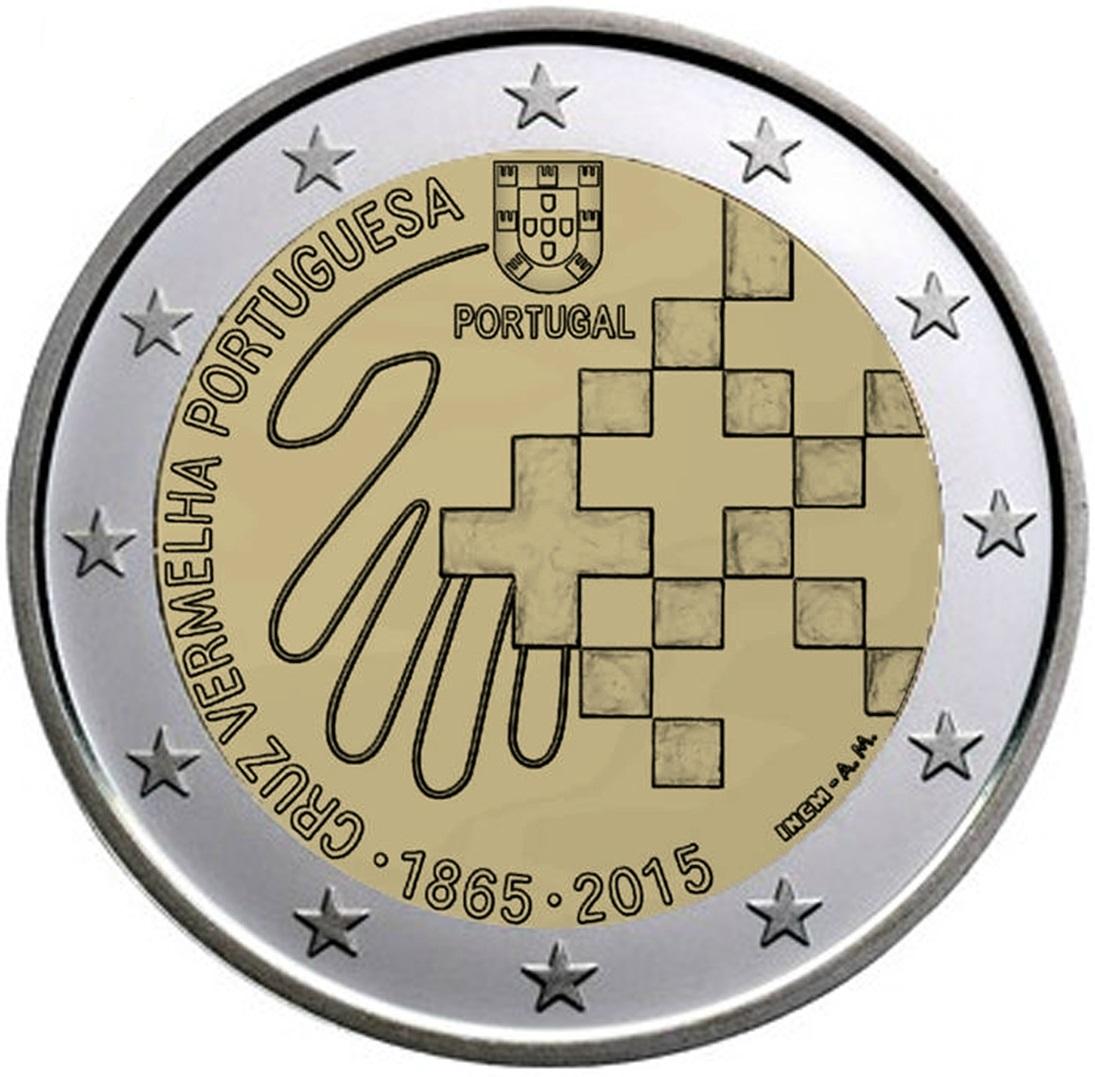 2 gedenkm nzen portugal 2015 150 jahre der portugiesischen roten kreuz. Black Bedroom Furniture Sets. Home Design Ideas