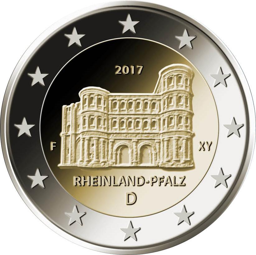 2 Euro Commémorative Dallemagne 2017 Rhénanie Palatinat Porta Nigra
